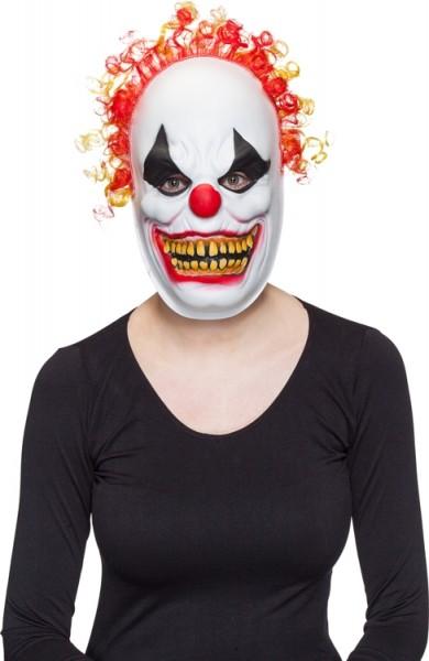 Fasching Halloween Maske Horror Clown mit Haaren