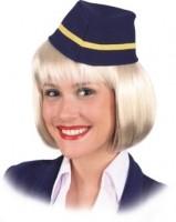 Faschingshut: Mütze Flugbegleiterin - Einheitsgröße