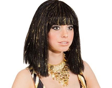 Perücke Cleopatra, schwarz-gold