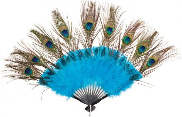 Faschingszubehör: Fächer Paradiesvogel - Pfau