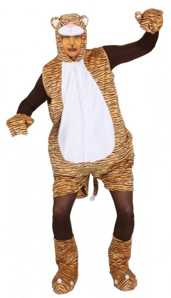 Tiger für Herren (Overall, Handschuhe, Fußstulpen) - Größe: Unisize