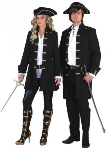 Piraten Damenjacke schwarz de Luxe