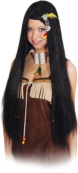 Perücke Damen: Indianerin Kiowa, schwarz