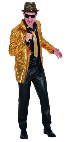 Show Jackett Pailletten, gold - Größe: 48/50 - 56/58