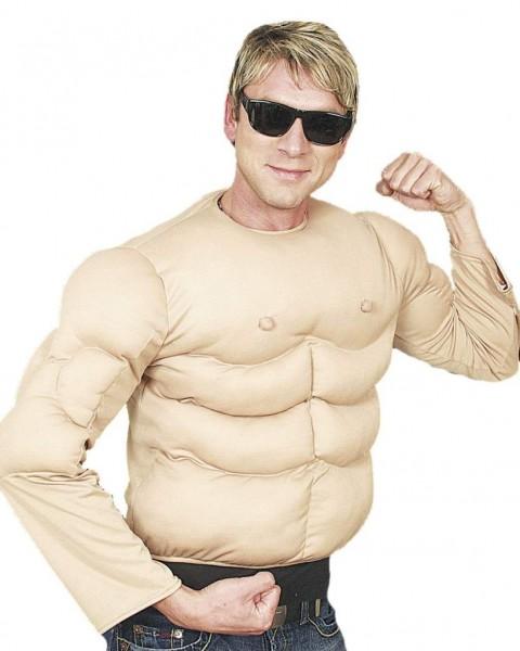 Faschingskostüm Herren Muskel-Shirt