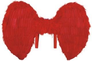 Federflügel de Luxe aus Federn rot