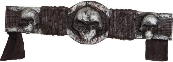 Fasching Halloween Gürtel mit Totenkopf