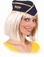 Faschingshut Mütze: Stewardess - Einheitsgröße