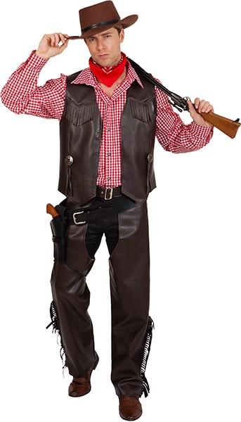 Cowboy Chaps, braun - Größe: 48/50 - 60/62