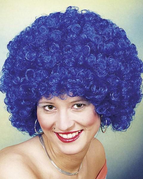 Perücke Hair große Locke, blau