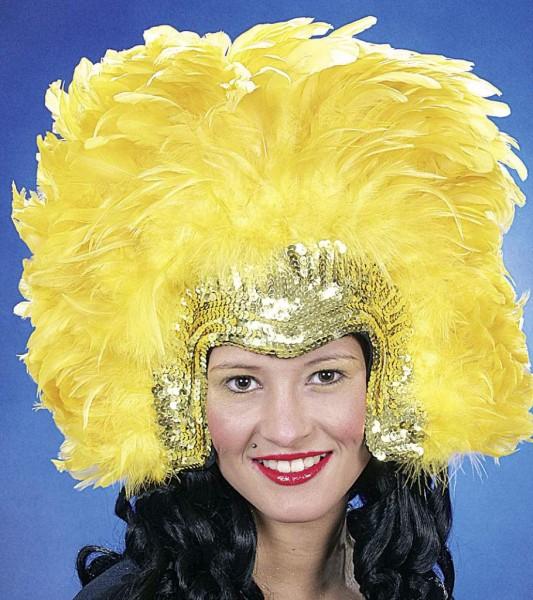 Faschingszubehör: Rio-Kopfschmuck, gold-gelb
