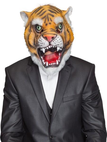 Fasching Maske Tiger (Gummimaske)