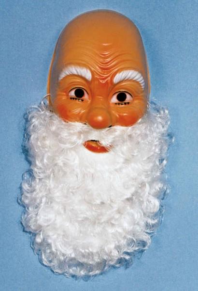 Nikolausmaske mit Bart
