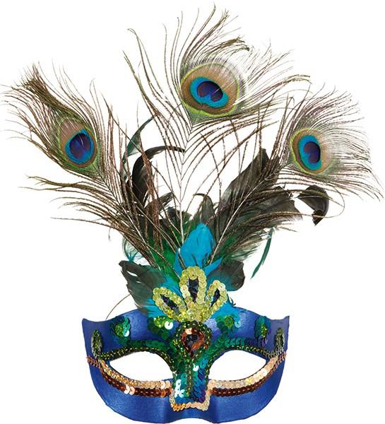 Faschings Maske: Paradiesvogel Halbmaske