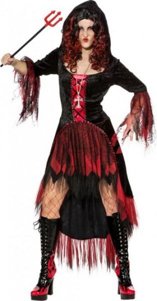 Fasching Halloween Kleid schwarz-rot - für Hexe oder Teufel