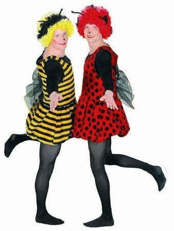 Fasching Kostüm Damen Plüschkleid Flotter Käfer