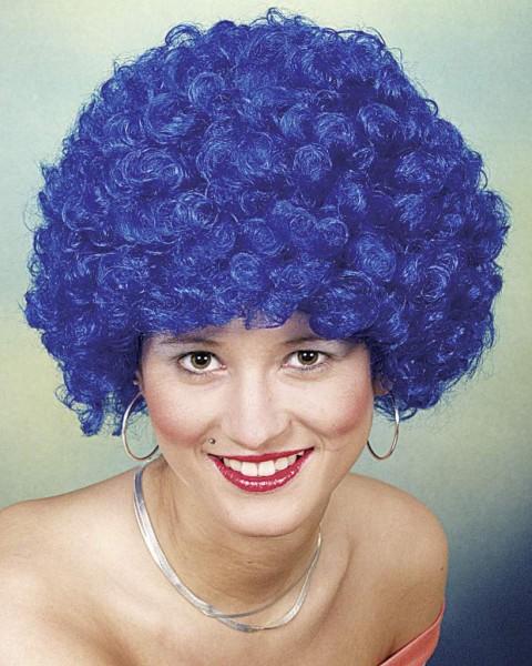 Faschingsperücke Hair, kleine Locke blau