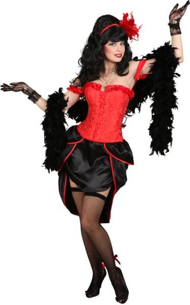 Burlesque-Korsage, rot in den Größen S bis XL