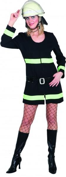 Feuerwehr Frau (Kleid, Gürtel) - Größe: 34 - 44