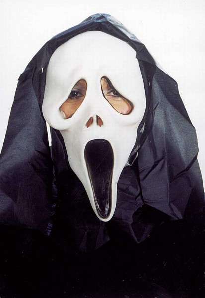 Maske Geist mit Haube