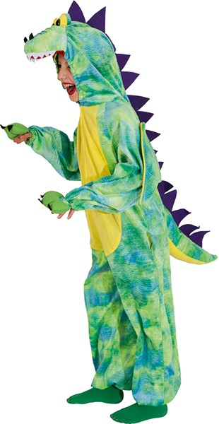 Dino Overall, gelb-grün - Größe: 116/128 - 140/152