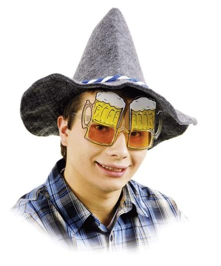 Faschingszubehör Brille Bierglas
