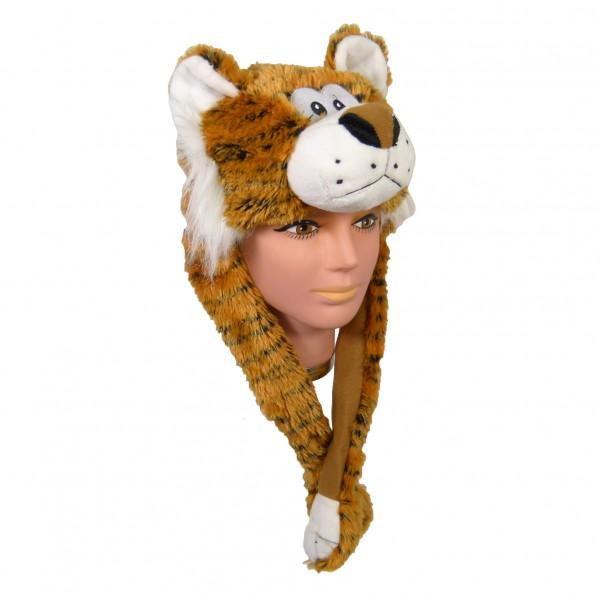 Plüsch Mütze Tiger 55 cm