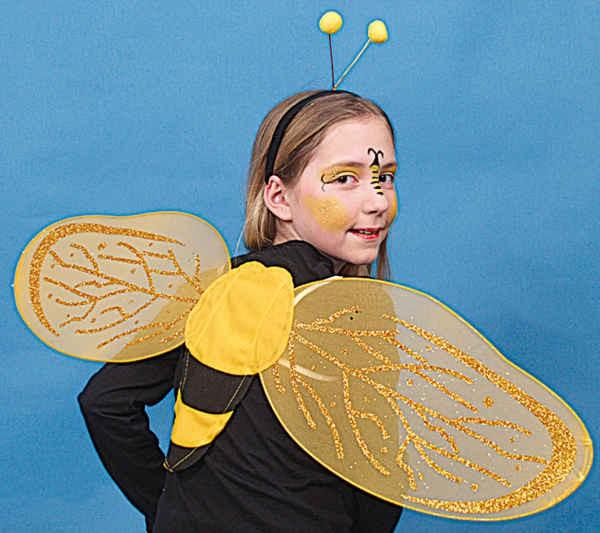 Bienen-Set (Haarreif,Flügel)