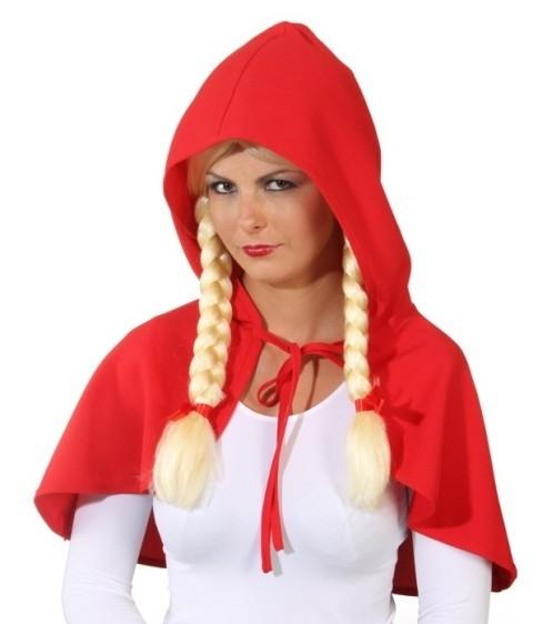 Faschingskostüm Damen: Rotkäppchen-Cape - unisize