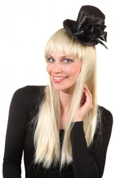Faschingshut 23999 Minihut mit Blume - mit Haarreif - 95% Polyester, 5% Polychlorid