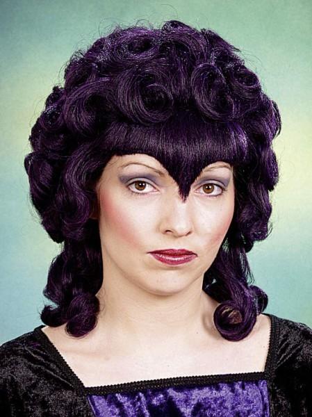 Faschingsperücke Damen: Gothic, lila-schwarz