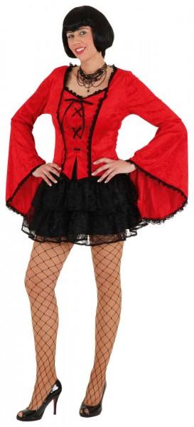 Gothic Dress, rot (Oberteil) - Größe: 36/38 - 40/42