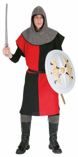 Waffenrock, rot-schwarz, 4-geteilt - Größe: Einheitsgröße