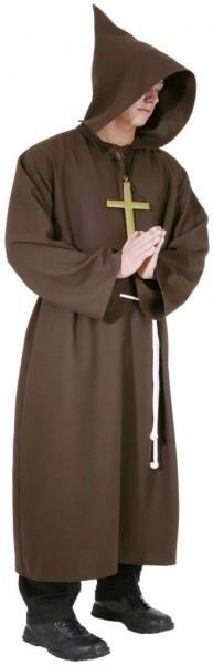 Mönchkutte mit Kapuze und Kordel braun