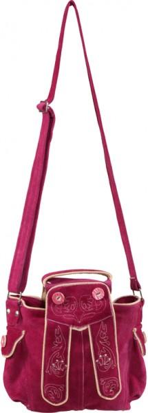 Oktoberfest Trachten Tasche groß, in den Farben braun und pink