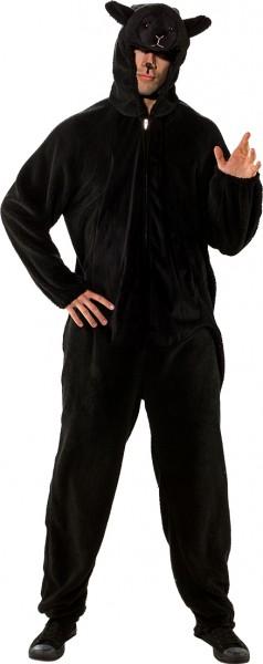 Fasching Kostüm Erwachsene Overall Schaf schwarz