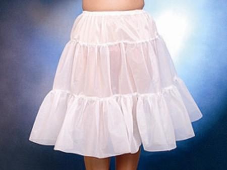 Petticoat - knielang, schwarz, 1-lagig