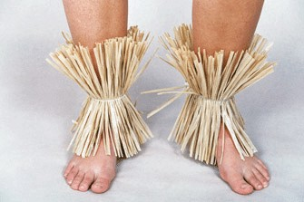 Fußschellen, natur