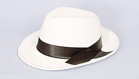 Faschingshut Herren Bogart weiß