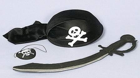 Faschingszubehör Piraten-Set