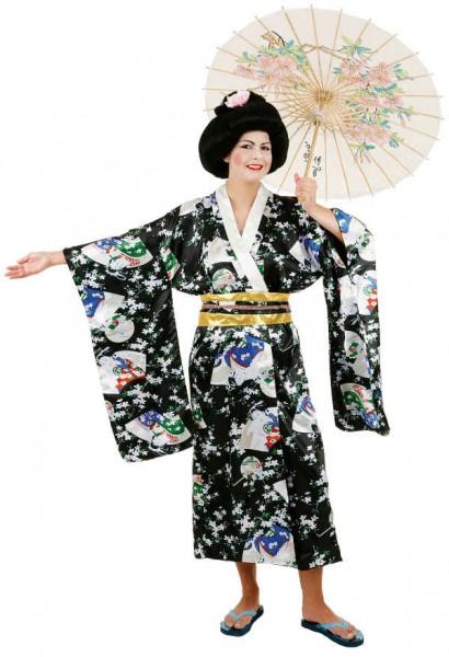Kimono, schwarz - Größe: Unisize