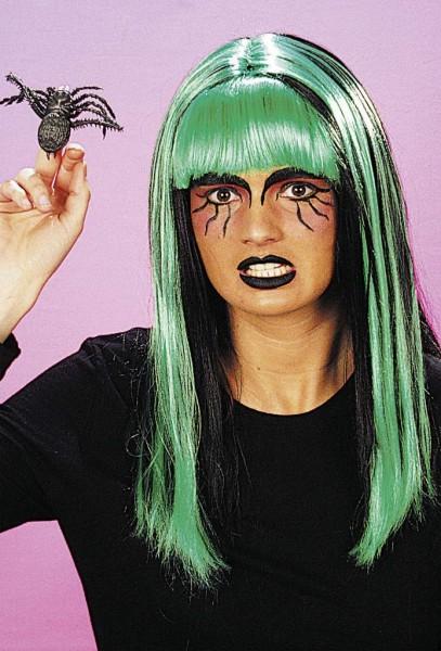 Perücke Hexe Halloween, schwarz-grün
