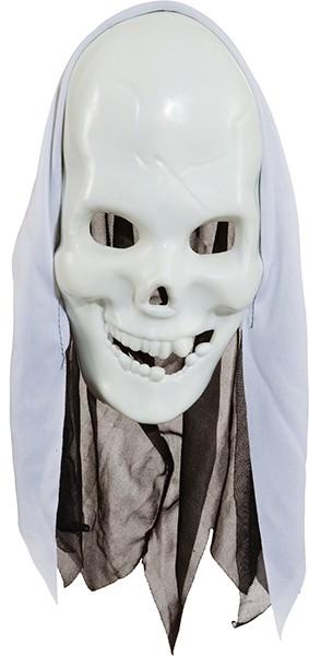 Skelett Maske mit weißen Kopftuch