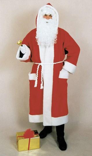 Weihnachtskostüm Weihnachtsmannmantel rot mit Gürtel