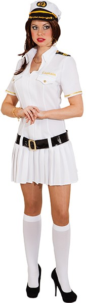 Captain Woman, weiß (Kleid, Gürtel) - Größe: 34 - 48