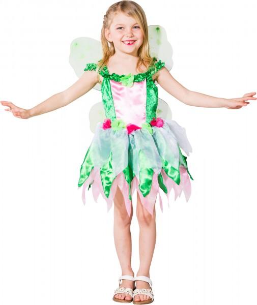 Fasching Kostüm Kinder Kleid Fee - Kleid mit Flügeln