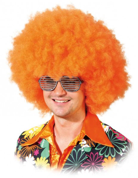 Perücke Seventies Boy, orange