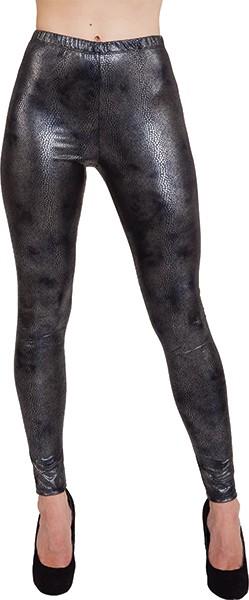 Leggings Schlange, schwarz-metallic in den Größen S/M und L/XL