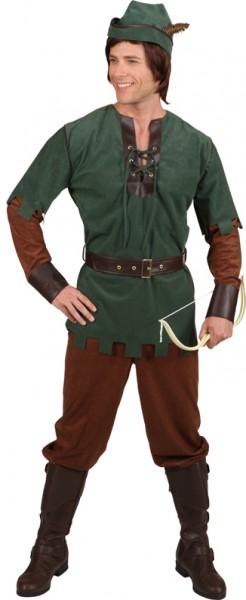Robin Hood (Oberteil, Hose, Gürtel, Hut) - Größe: 46/48 - 58/60