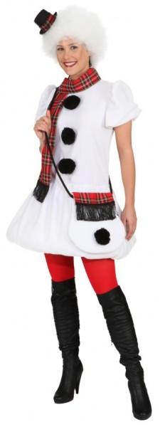Fasching Kostüm Damen Kleid Schneefrau